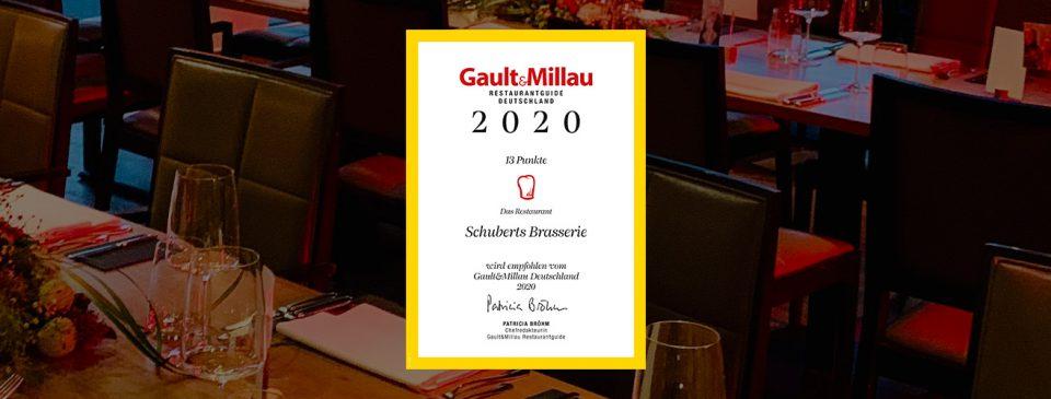 Empfohlen vom Gault&Millau Deutschland 2020